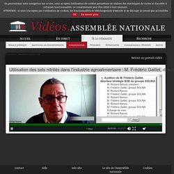 ASSEMBLEE NATIONALE 25/11/20 Audition : Utilisation des sels nitrités dans l'industrie agroalimentaire : M. Frédéric Gaillet, directeur stratégie B2B du groupe SOLINA