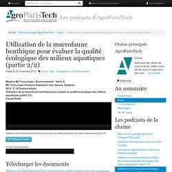 Utilisation de la macrofaune benthique pour évaluer la qualité écologique des (...)