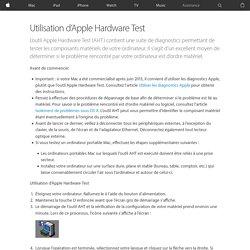 Utilisation d'AppleHardwareTest