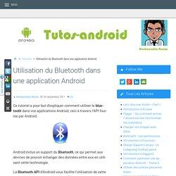 Utilisation du Bluetooth dans une application Android