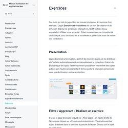 Exercices - Manuel d'utilisation des applications Neo