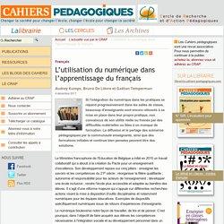 L'utilisation du numérique dans l'apprentissage du français