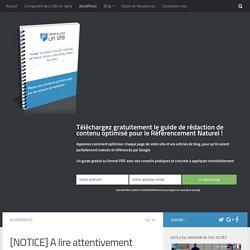 Notice d'utilisation de WordPress, à lire entièrement et attentivement Dessine-Moi un Site