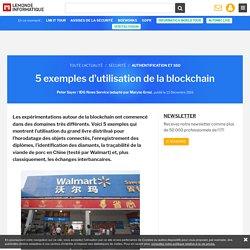 5 exemples d'utilisation de la blockchain