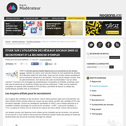 Etude sur l'utilisation des réseaux sociaux dans le recrutement et la recherche d'emploi