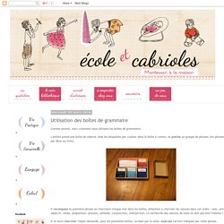 Ecole et Cabrioles, une école Montessori à la maison : Utilisation des boîtes de grammaire