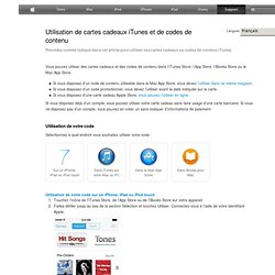 iTunesStore: comment utiliser un code