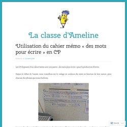 Utilisation du cahier mémo «des mots pour écrire» en CP – La classe d'Ameline