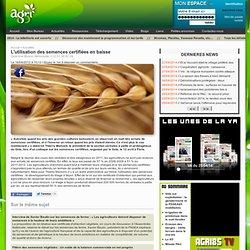 AGRI85 16/04/12 L'utilisation des semences certifiées en baisse