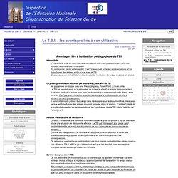 Le T.B.I. : les avantages liés à son utilisation - Circonscription de Soissons 1