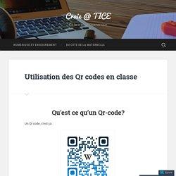 Utilisation des Qr codes en classe – Craie @ TICE