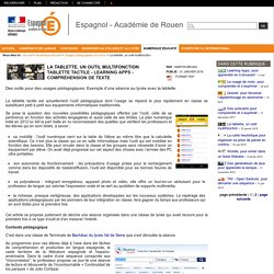 Espagnol - Académie de Rouen - Utilisation des outils numériques à différents moments du cours : tablettes tactiles et compréhension de texte