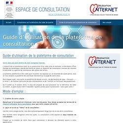 Guide d'utilisation de la plateforme de consultation