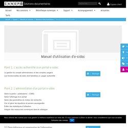 Manuel d'utilisation d'e-sidoc - Solutions documentaires