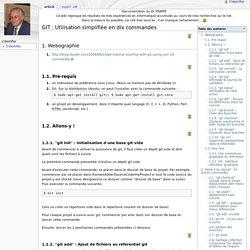 GIT : Utilisation simplifiée en dix commandes - Documentation du Dr FRAPPE