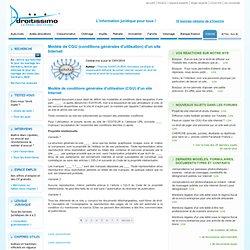 Modèle de CGU (conditions générales d'utilisation) d'un site Internet