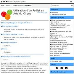 Utilisation d'un Padlet en Arts du Cirque - Éducation physique et sportive