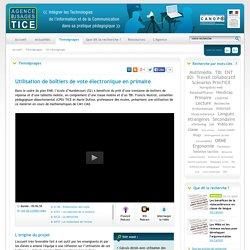 L'Agence nationale des Usages des TICE - Utilisation de boîtiers de vote électronique en primaire