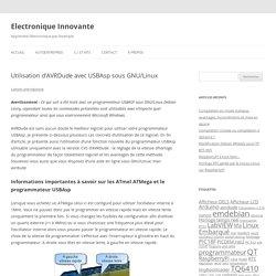 Electronique Innovante » Utilisation d'AVRDude avec USBAsp sous GNU/Linux