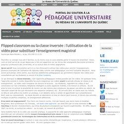 Flipped classroom ou la classe inversée : l'utilisation de la vidéo pour substituer l'enseignement magistral