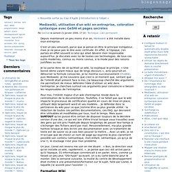 Mediawiki, utilisation d'un wiki en entreprise, coloration syntaxique avec GeSHI et pages secrètes - Blogounage