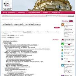 L'utilisation des brevets par les entreprises françaises
