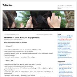 Utilisation en cours de langue (Espagnol LV2)
