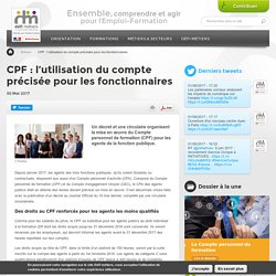 CPF : l'utilisation du compte précisée pour les fonctionnaires