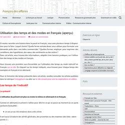 Utilisation des temps et des modes en français (aperçu)