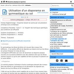 Utilisation d'un diaporama en gymnastique au sol - Éducation physique et sportive