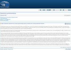 PARLEMENT EUORPEEN - Réponse à question E-012383/2011 Utilisation répandue de l'acide hyaluronique dont le marché noir inonde cependant Internet
