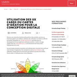 Utilisation des UX Cards ou cartes d'idéation - Méthode des UX Cards