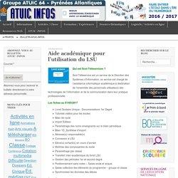Aide académique pour l'utilisation du LSU – Bulletin d'information ATUIC 64