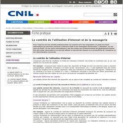 Le contrôle de l'utilisation d'internet et de la messagerie - CNIL - Commission nationale de l'infor…