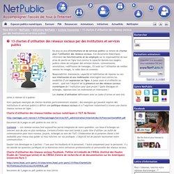 13 chartes d'utilisation des réseaux sociaux par des institutions et services publics