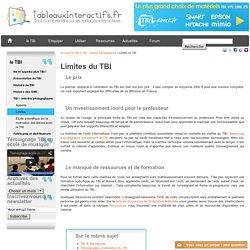 Limites du TBI et freins à son utilisation en classe