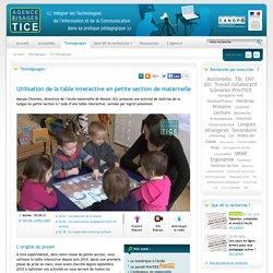 L'Agence nationale des Usages des TICE - Utilisation de la table interactive en petite section de maternelle-Mozilla Firefox
