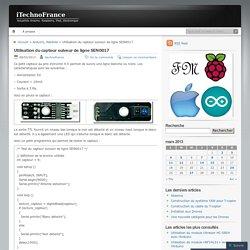 Utilisation du capteur suiveur de ligne SEN0017