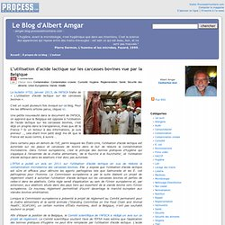 L'utilisation d'acide lactique sur les carcasses bovines vue par la Belgique