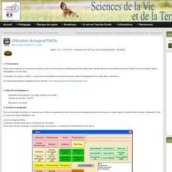Utilisation du logiciel McDo » SVT - Académie de Besançon
