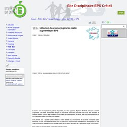 Utilisation d'Aurasma (logiciel de réalité augmentée) en EPS