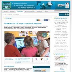 L'Agence nationale des Usages des TICE - Utilisation d'un ENT en petite section de maternelle