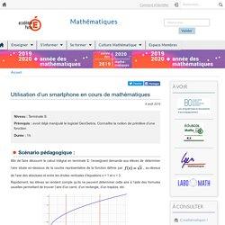 Utilisation d'un smartphone en cours de mathématiques