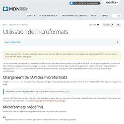 Utilisation de microformats - MDC