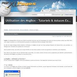 Utilisation des MsgBox - Tutoriels & Astuces > VBA pour débutants - Tutoriels