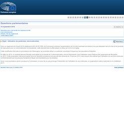 PARLEMENT EUROPEEN - Réponse à question E-006952-16 Utilisation de pesticides néonicotinoïdes