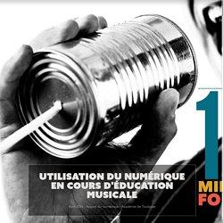 Utilisation du numérique en cours d'éducation musicale