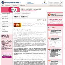 Condition d'utilisation d'internet au travail : droits et obligations des employeurs et des salariés