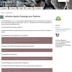 Utilisation Apache Passenger pour Redmine