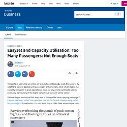 3.4.1 - EasyJet and Capacity Utilisation: Too Many Passengers